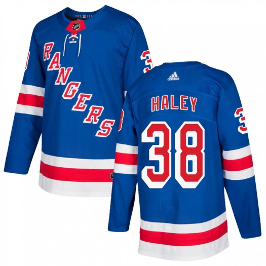 Micheal Haley New York Rangers Youth Adidas Authentic Royal Blue Home Jersey