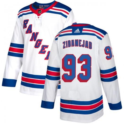 Mika Zibanejad New York Rangers Men's Adidas Authentic White Jersey