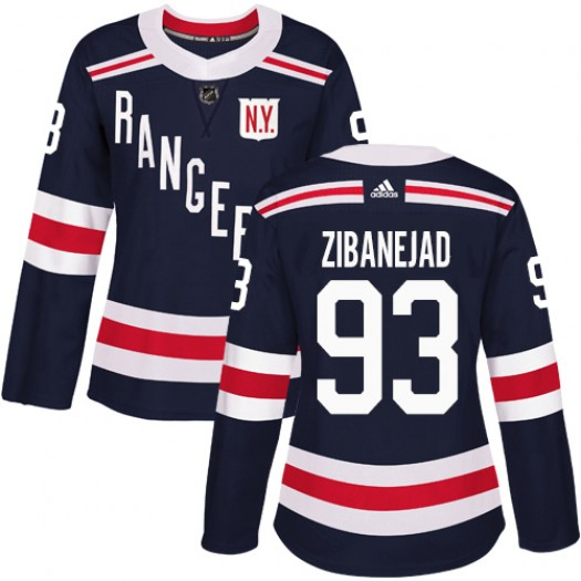 Mika Zibanejad New York Rangers Women's Adidas Authentic Navy Blue 2018 Winter Classic Jersey