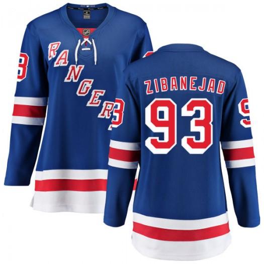 Mika Zibanejad New York Rangers Women's Fanatics Branded Blue Home Breakaway Jersey