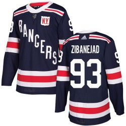 Mika Zibanejad New York Rangers Youth Adidas Authentic Navy Blue 2018 Winter Classic Jersey