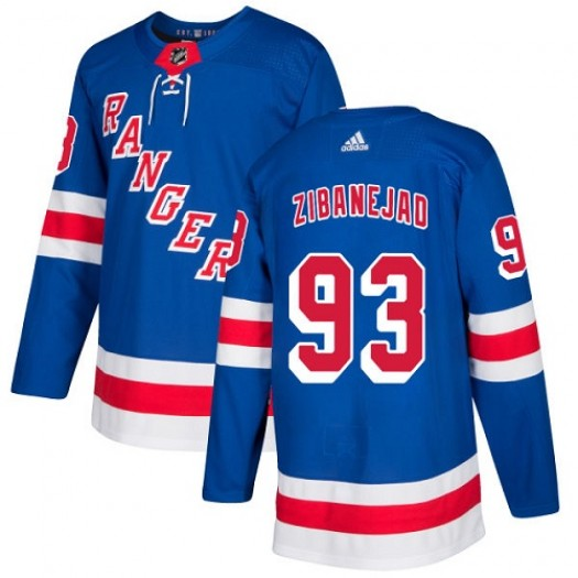 Mika Zibanejad New York Rangers Youth Adidas Authentic Royal Blue Home Jersey