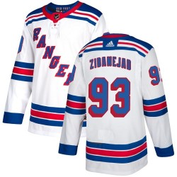 Mika Zibanejad New York Rangers Youth Adidas Authentic White Away Jersey