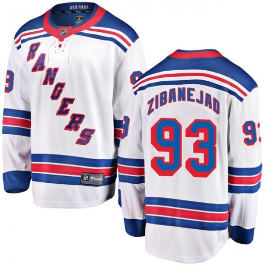 Mika Zibanejad New York Rangers Youth Fanatics Branded White Breakaway Away Jersey