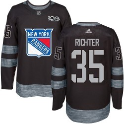 Mike Richter New York Rangers Men's Adidas Authentic Black 1917-2017 100th Anniversary Jersey