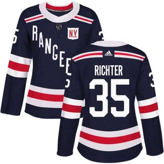 Mike Richter New York Rangers Women's Adidas Authentic Navy Blue 2018 Winter Classic Jersey