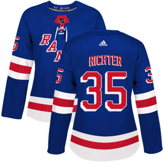 Mike Richter New York Rangers Women's Adidas Authentic Royal Blue Home Jersey
