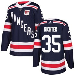 Mike Richter New York Rangers Youth Adidas Authentic Navy Blue 2018 Winter Classic Jersey