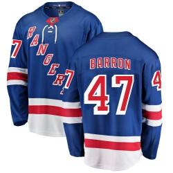 Morgan Barron New York Rangers Men's Fanatics Branded Blue Breakaway Home Jersey