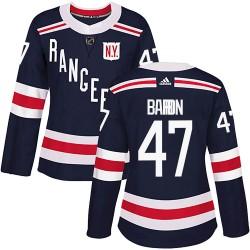 Morgan Barron New York Rangers Women's Adidas Authentic Navy Blue 2018 Winter Classic Home Jersey