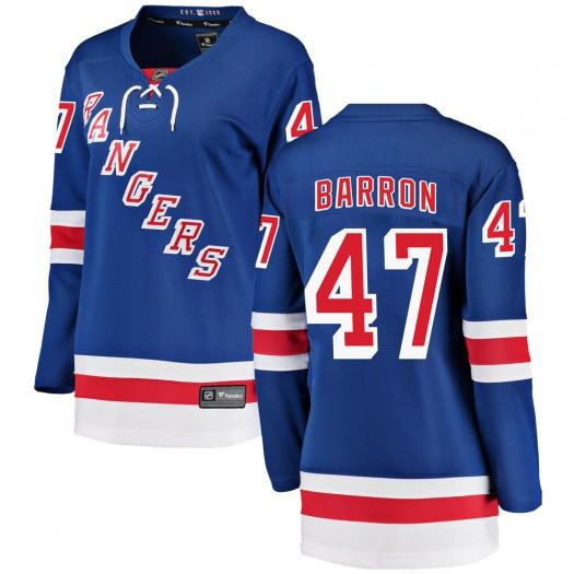 Morgan Barron New York Rangers Women's Fanatics Branded Blue Breakaway Home Jersey