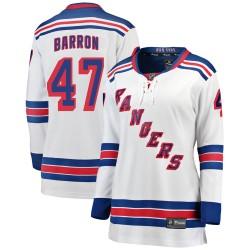 Morgan Barron New York Rangers Women's Fanatics Branded White Breakaway Away Jersey