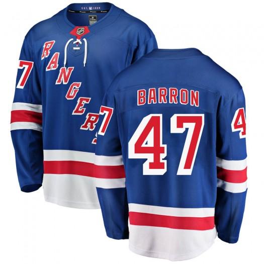 Morgan Barron New York Rangers Youth Fanatics Branded Blue Breakaway Home Jersey