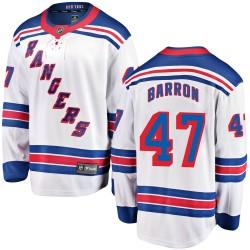 Morgan Barron New York Rangers Youth Fanatics Branded White Breakaway Away Jersey