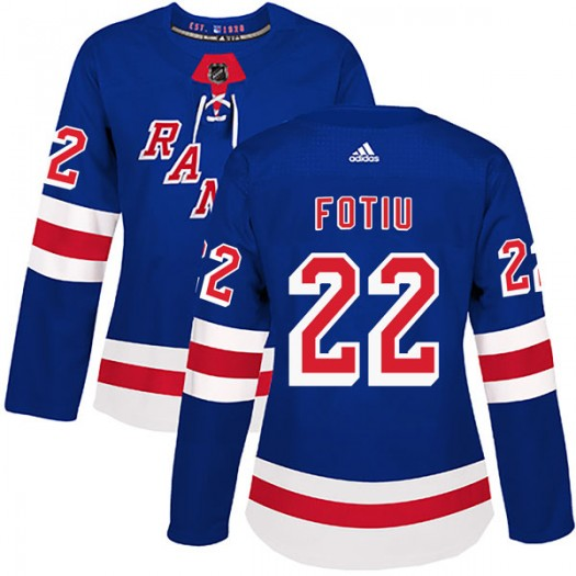 Nick Fotiu New York Rangers Women's Adidas Authentic Royal Blue Home Jersey
