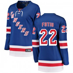 Nick Fotiu New York Rangers Women's Fanatics Branded Blue Breakaway Home Jersey