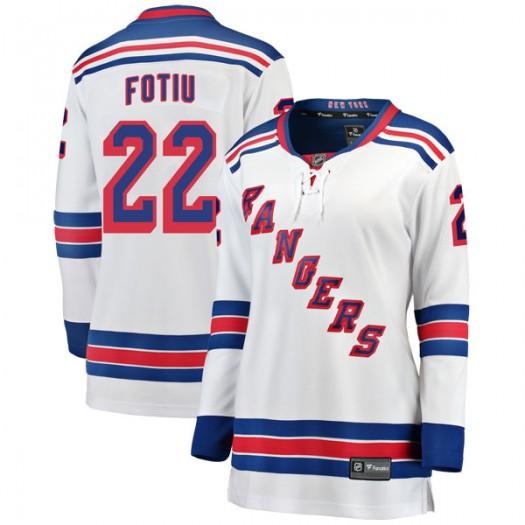 Nick Fotiu New York Rangers Women's Fanatics Branded White Breakaway Away Jersey