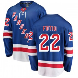Nick Fotiu New York Rangers Youth Fanatics Branded Blue Breakaway Home Jersey