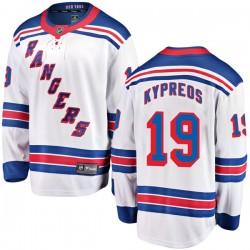 Nick Kypreos New York Rangers Men's Fanatics Branded White Breakaway Away Jersey