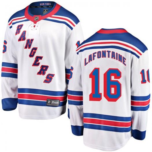 Pat Lafontaine New York Rangers Men's Fanatics Branded White Breakaway Away Jersey