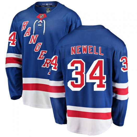 Patrick Newell New York Rangers Men's Fanatics Branded Blue Breakaway Home Jersey