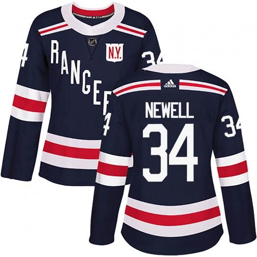 Patrick Newell New York Rangers Women's Adidas Authentic Navy Blue 2018 Winter Classic Home Jersey