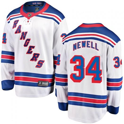 Patrick Newell New York Rangers Youth Fanatics Branded White Breakaway Away Jersey