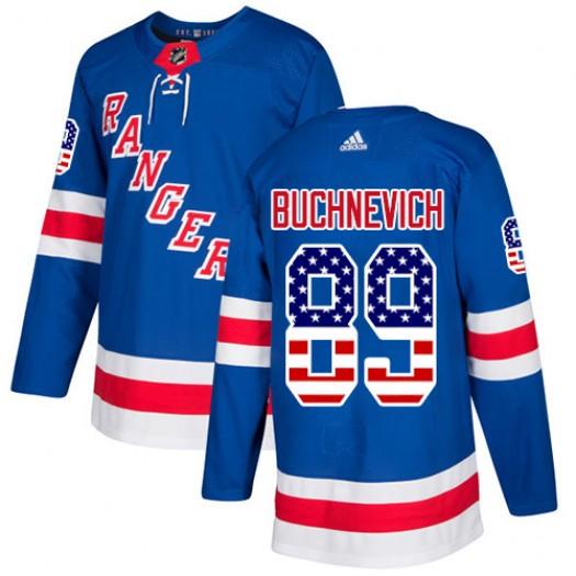 Pavel Buchnevich New York Rangers Men's Adidas Authentic Royal Blue USA Flag Fashion Jersey
