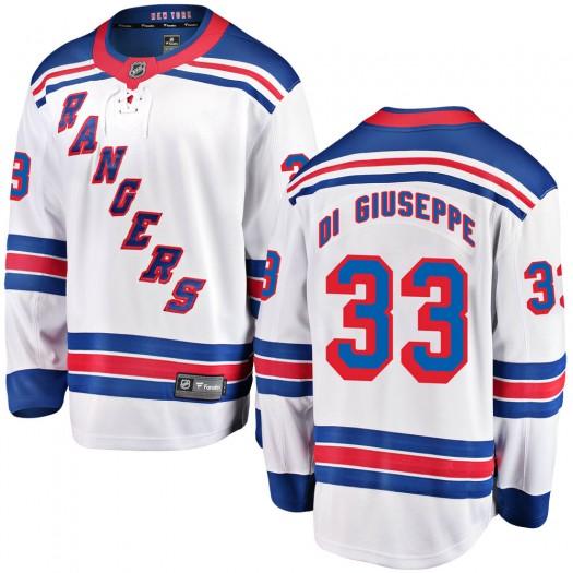 Phil Di Giuseppe New York Rangers Youth Fanatics Branded White Breakaway Away Jersey