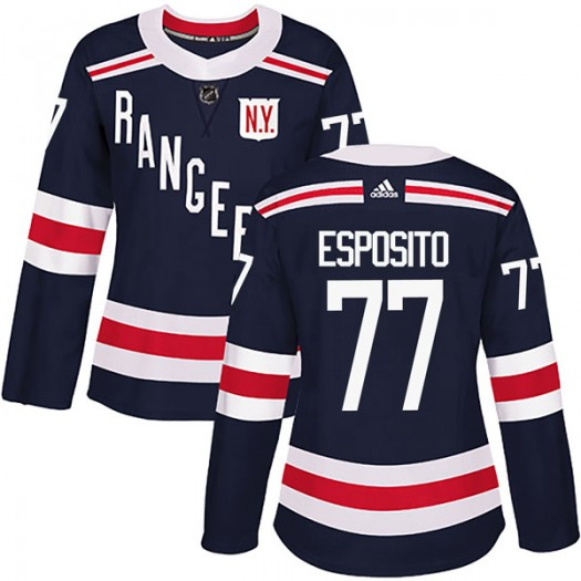 Phil Esposito New York Rangers Women's Adidas Authentic Navy Blue 2018 Winter Classic Home Jersey