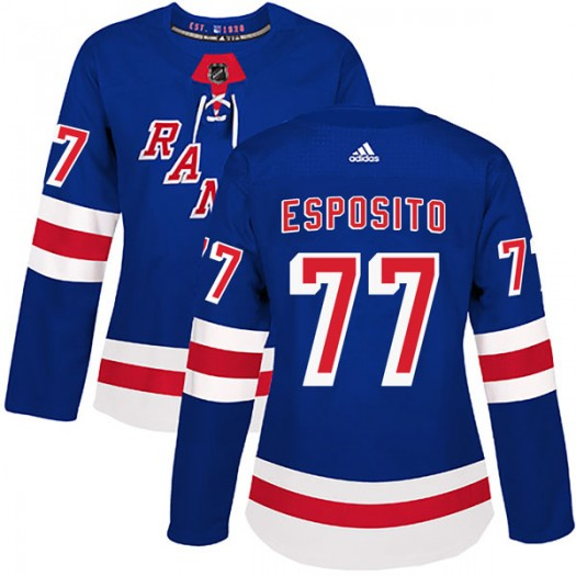 Phil Esposito New York Rangers Women's Adidas Authentic Royal Blue Home Jersey