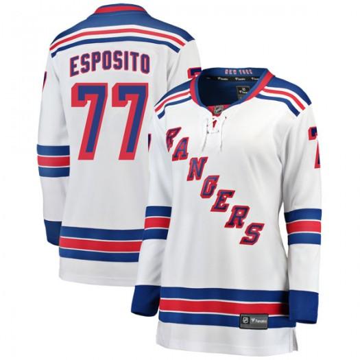 Phil Esposito New York Rangers Women's Fanatics Branded White Breakaway Away Jersey