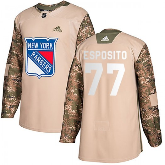 Phil Esposito New York Rangers Youth Adidas Authentic Camo Veterans Day Practice Jersey