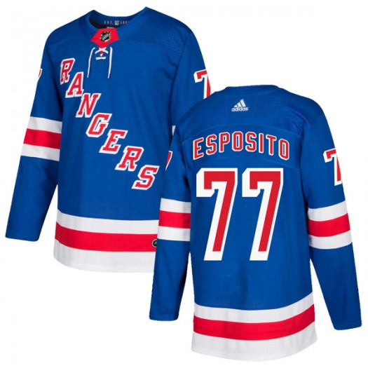Phil Esposito New York Rangers Youth Adidas Authentic Royal Blue Home Jersey