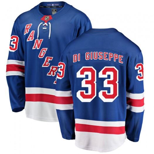 Phillip Di Giuseppe New York Rangers Youth Fanatics Branded Blue Breakaway Home Jersey