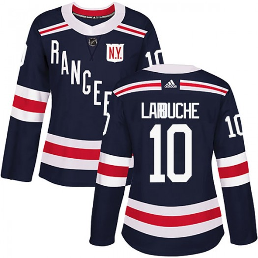 Pierre Larouche New York Rangers Women's Adidas Authentic Navy Blue 2018 Winter Classic Home Jersey