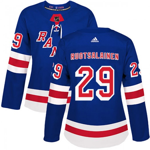 Reijo Ruotsalainen New York Rangers Women's Adidas Authentic Royal Blue Home Jersey