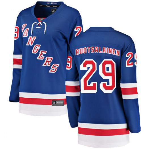 Reijo Ruotsalainen New York Rangers Women's Fanatics Branded Blue Breakaway Home Jersey