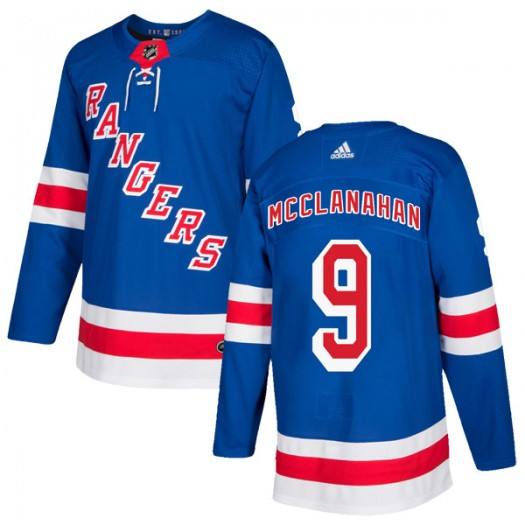 Rob Mcclanahan New York Rangers Youth Adidas Authentic Royal Blue Home Jersey