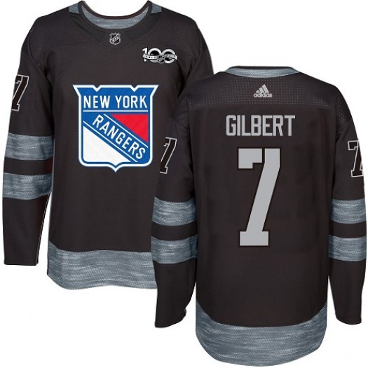 Rod Gilbert New York Rangers Men's Adidas Authentic Black 1917-2017 100th Anniversary Jersey