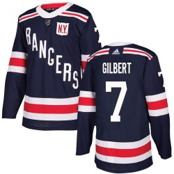 Rod Gilbert New York Rangers Men's Adidas Authentic Navy Blue 2018 Winter Classic Jersey