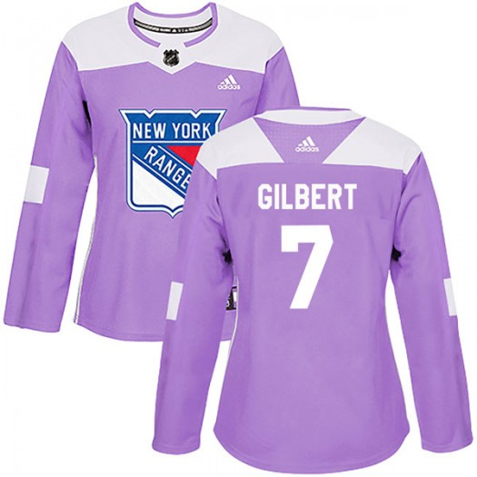 Rod Gilbert New York Rangers Women's Adidas Authentic Purple Fights Cancer Practice Jersey