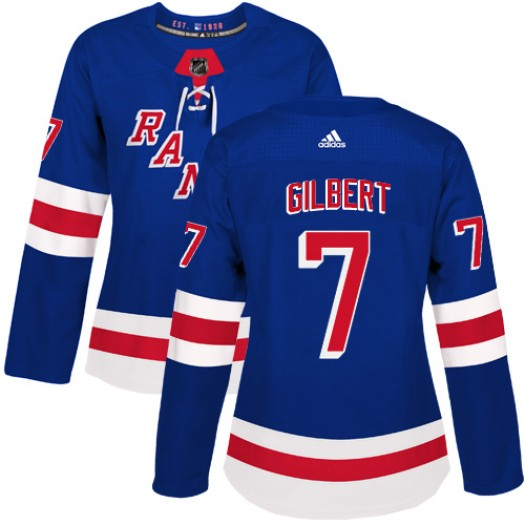 Rod Gilbert New York Rangers Women's Adidas Authentic Royal Blue Home Jersey