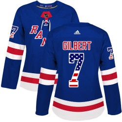 Rod Gilbert New York Rangers Women's Adidas Authentic Royal Blue USA Flag Fashion Jersey