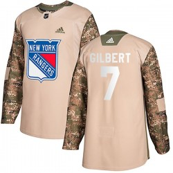 Rod Gilbert New York Rangers Youth Adidas Authentic Camo Veterans Day Practice Jersey