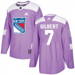 Rod Gilbert New York Rangers Youth Adidas Authentic Purple Fights Cancer Practice Jersey