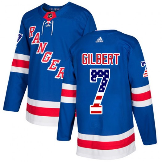 Rod Gilbert New York Rangers Youth Adidas Authentic Royal Blue USA Flag Fashion Jersey