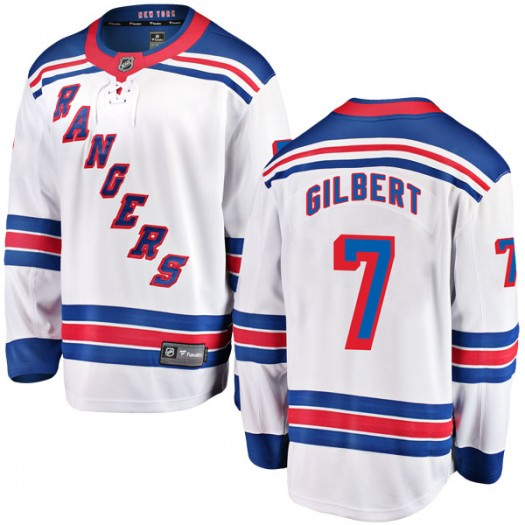 Rod Gilbert New York Rangers Youth Fanatics Branded White Breakaway Away Jersey