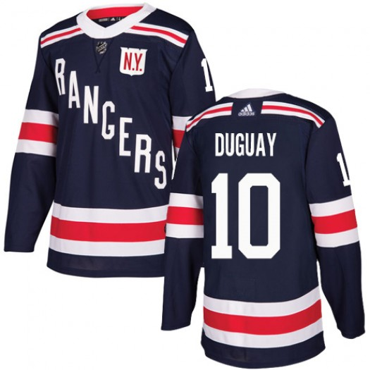 Ron Duguay New York Rangers Men's Adidas Authentic Navy Blue 2018 Winter Classic Jersey