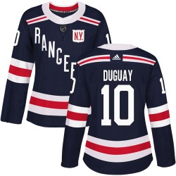 Ron Duguay New York Rangers Women's Adidas Authentic Navy Blue 2018 Winter Classic Jersey